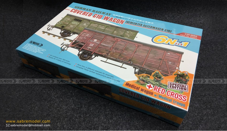 Sabre 1/35 German COVERED G10 WAGON - Red Cross Special Edition