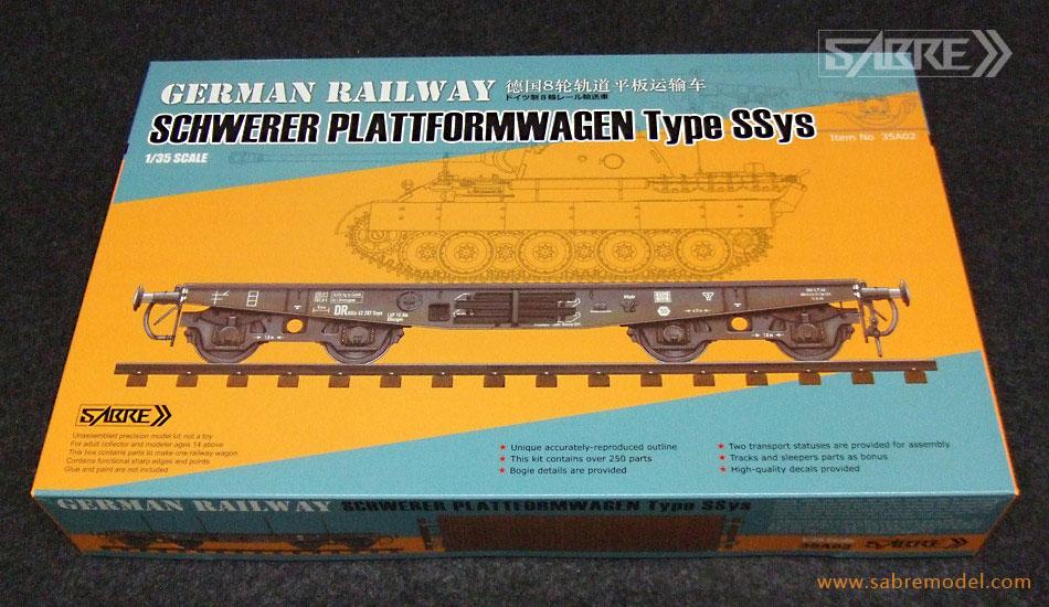 Sabre 1/35 German Railway SCHWERER PLATTFORMWAGEN Typ SSys 4[Axle] 50ton - Standard Edition