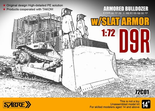 Sabre 1/72 D9R Armoured Bulldozer with Slat Armour