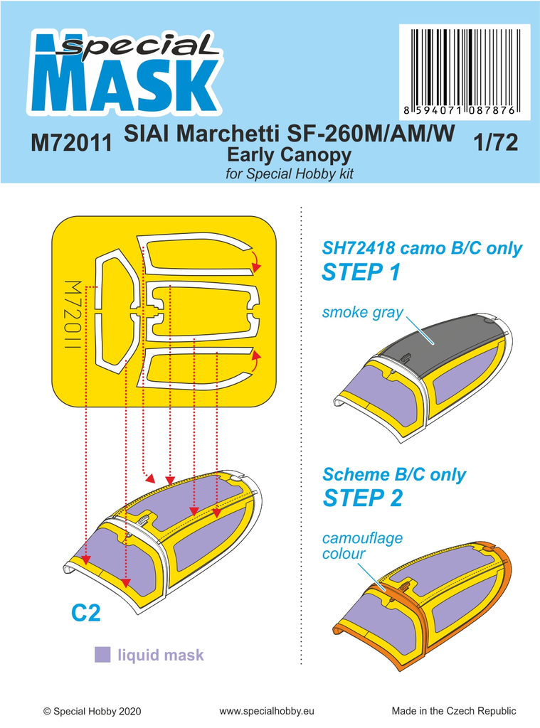 Special Hobby 1/72 SIAI-Marchetti SF-260M/AM/W Mask