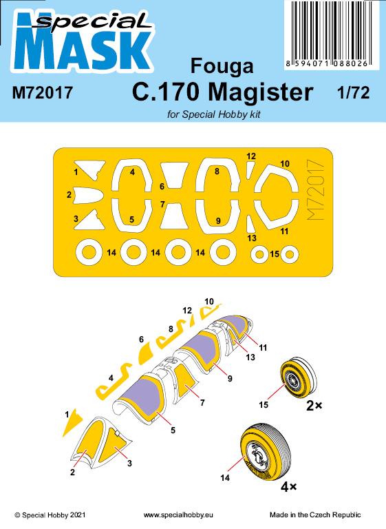 Special Hobby 1/72 Fouga C.170 Magister Mask