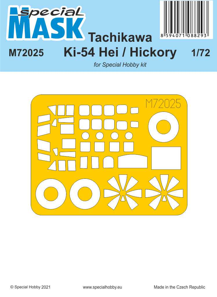 Special Hobby 1/72 Tachikawa Ki-54 Hei / Hickory MASK