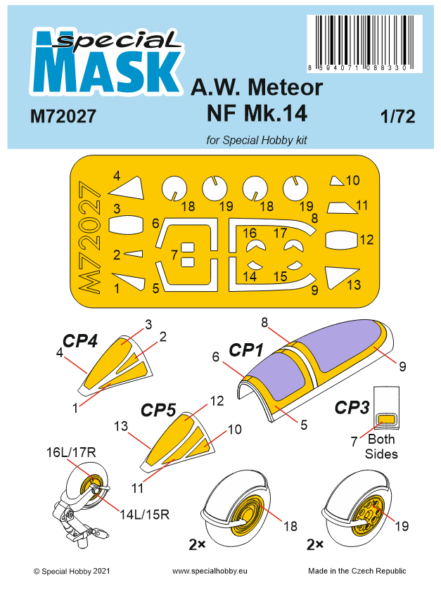 Special Hobby 1/72 A.W. Meteor NF Mk.14 Mask
