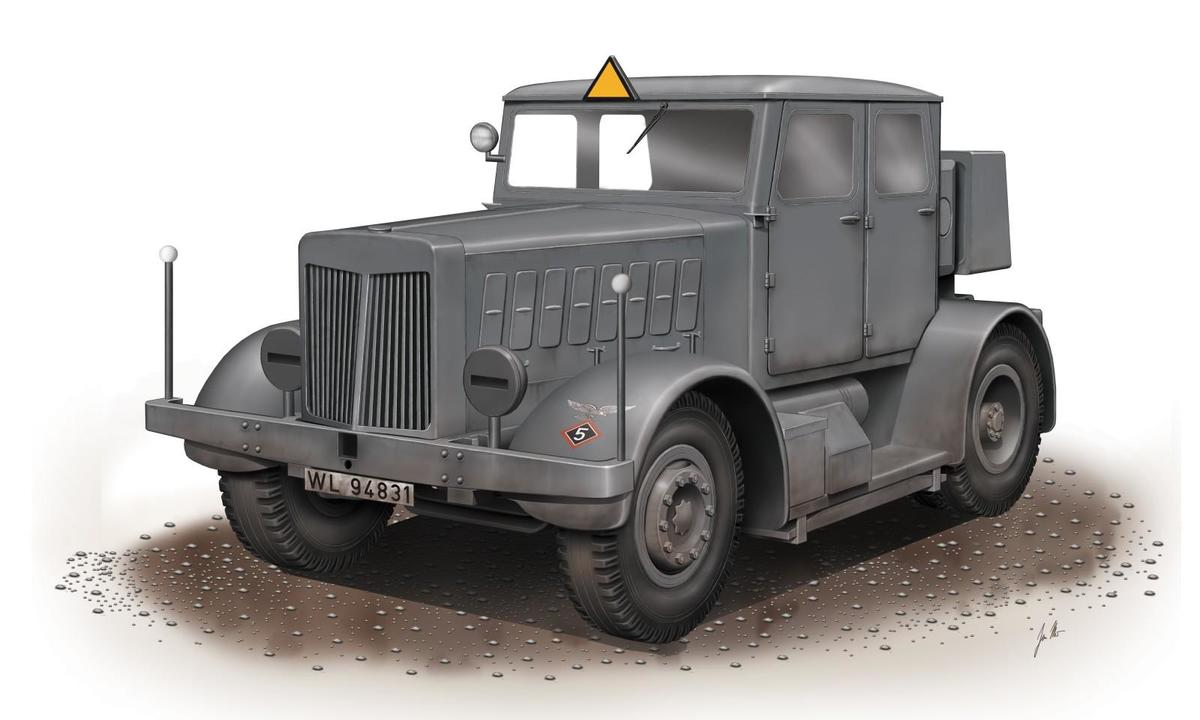 Special Hobby SS-100 Gigant Schwerer Radschlepper/Heavy Tra 1/72