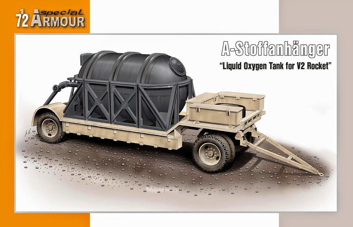 "Special Hobby A-Stoffanhanger ""Liguid Oxygen Tank for V2 Ro 1/72"
