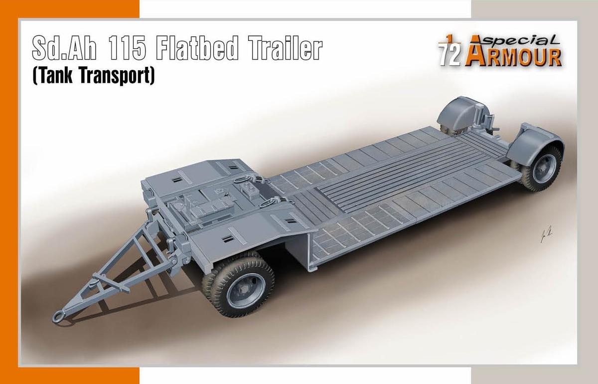 Special Hobby 1/72 Sd.Ah 115 Flatbed Trailer Tank Transport