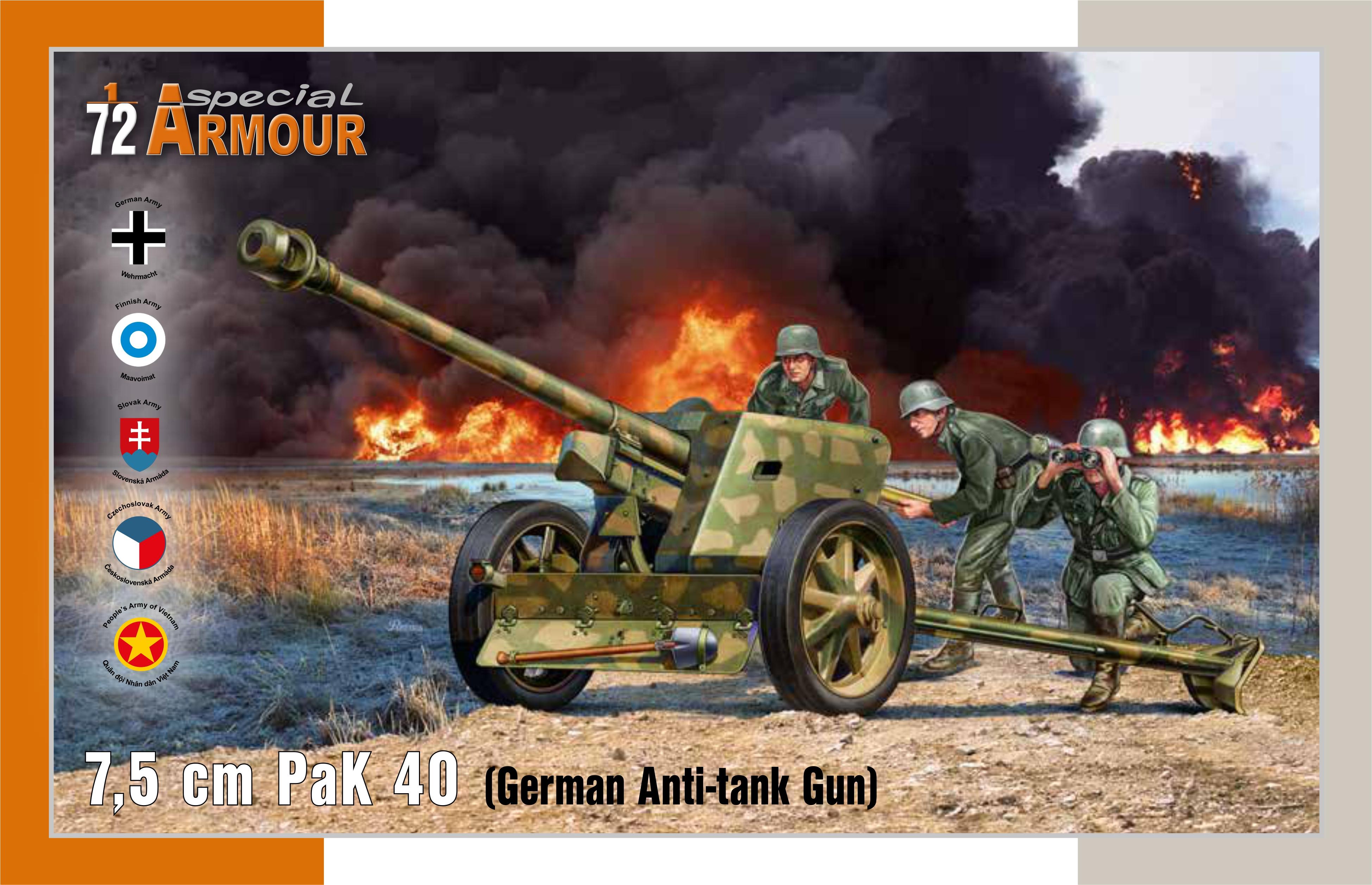 Special Hobby 1/72 7,5 cm PaK 40 'German Anti-tank Gun'