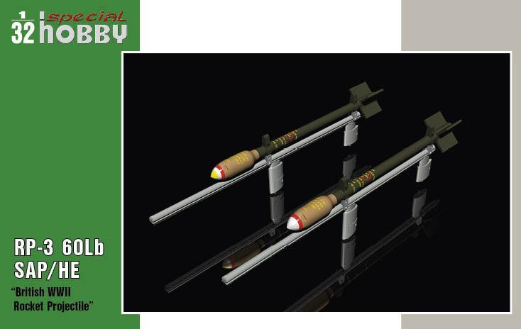 Special Hobby 1/32 RP-3 60Lb SAP British WWII Rockets