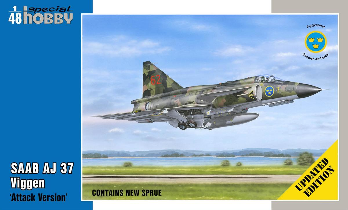 "Special Hobby SAAB AJ 37 Viggen ""Attack Version"" 1/48 - Updated edition"