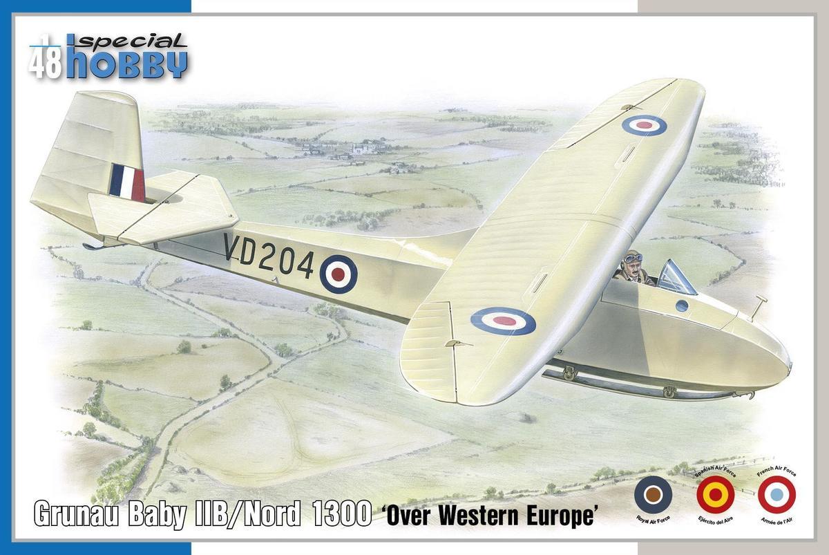 Special Hobby 1/48 Grunau Baby llB/Nord 1300 Over Western Europe