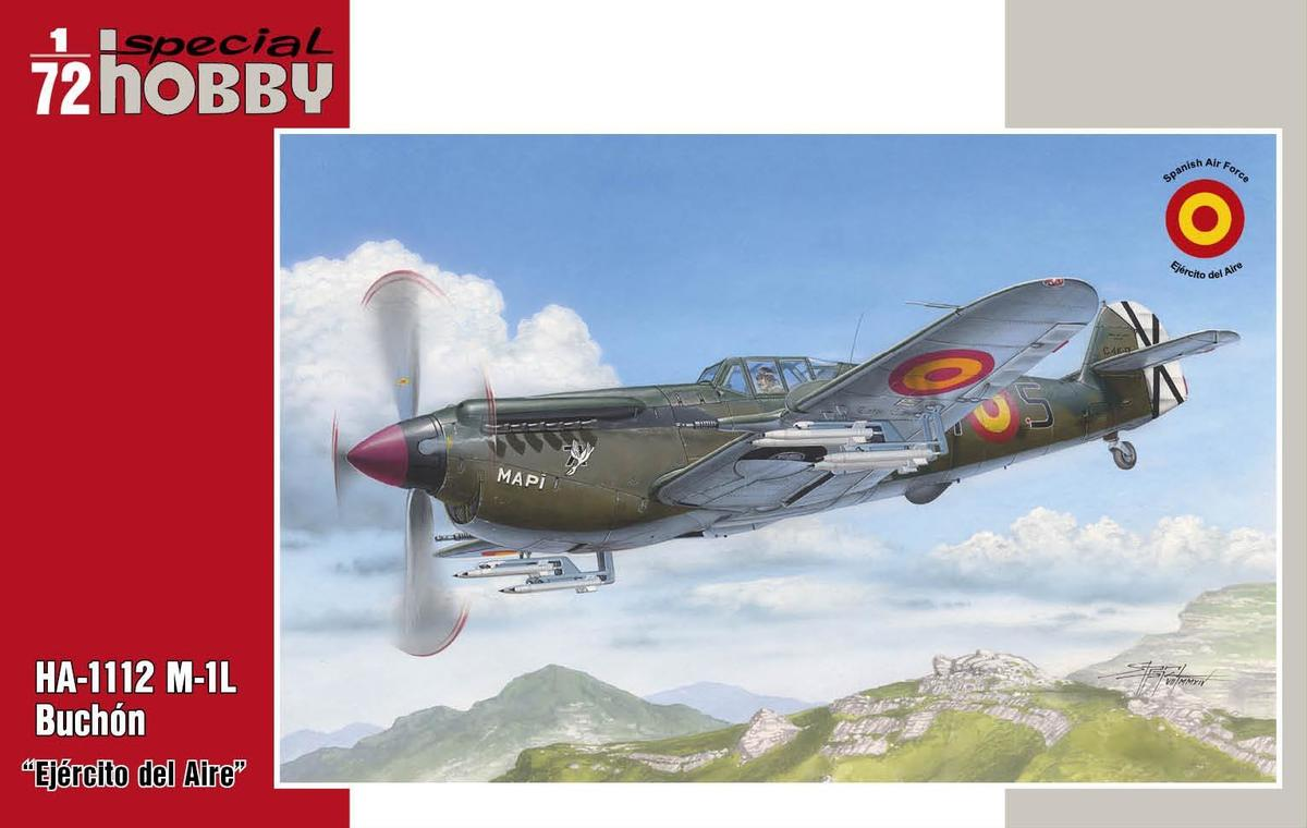 """Special Hobby HA-1112 M-1L Buchon """"Ejercito del Aire"""" 1/72"""
