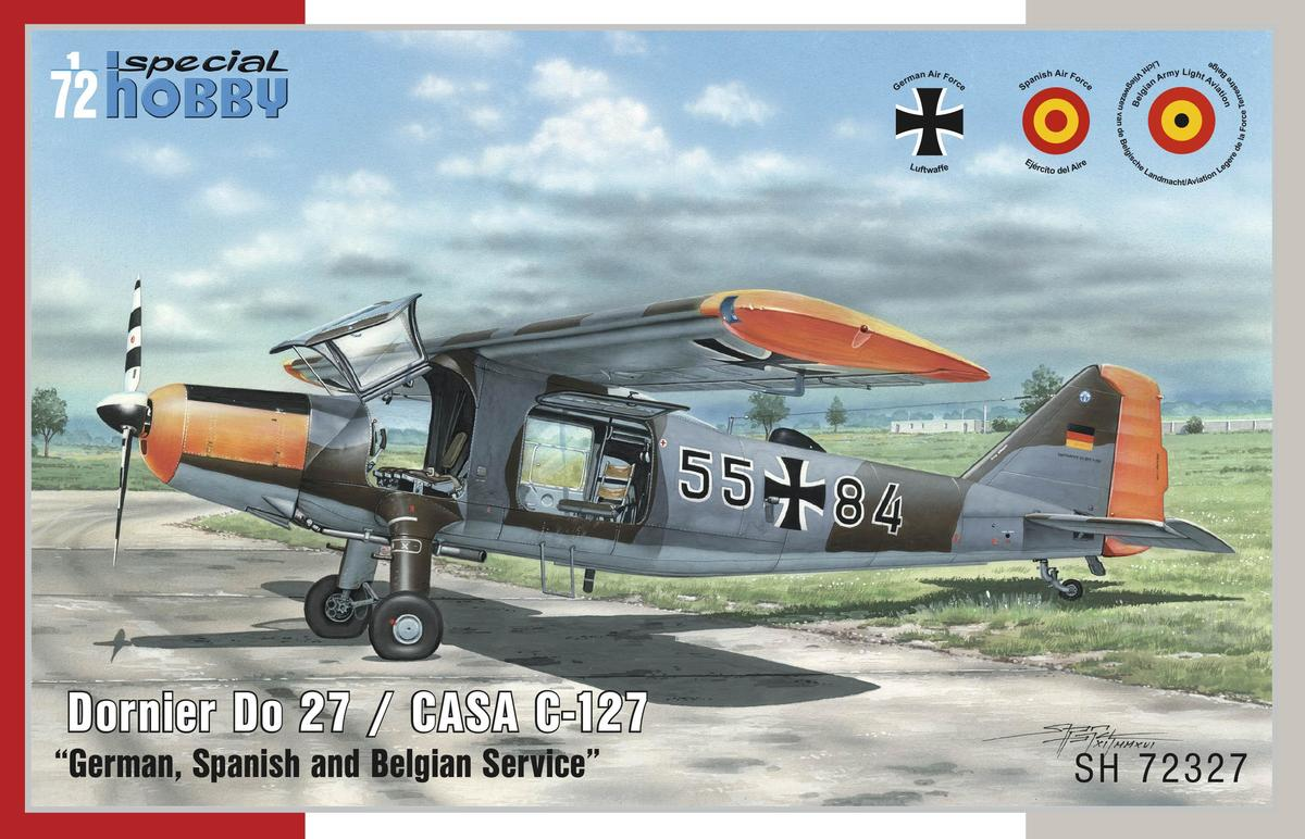 "Special Hobby Dornier Do 27 ""German, Spanish and Belgian Service"" 1/72"