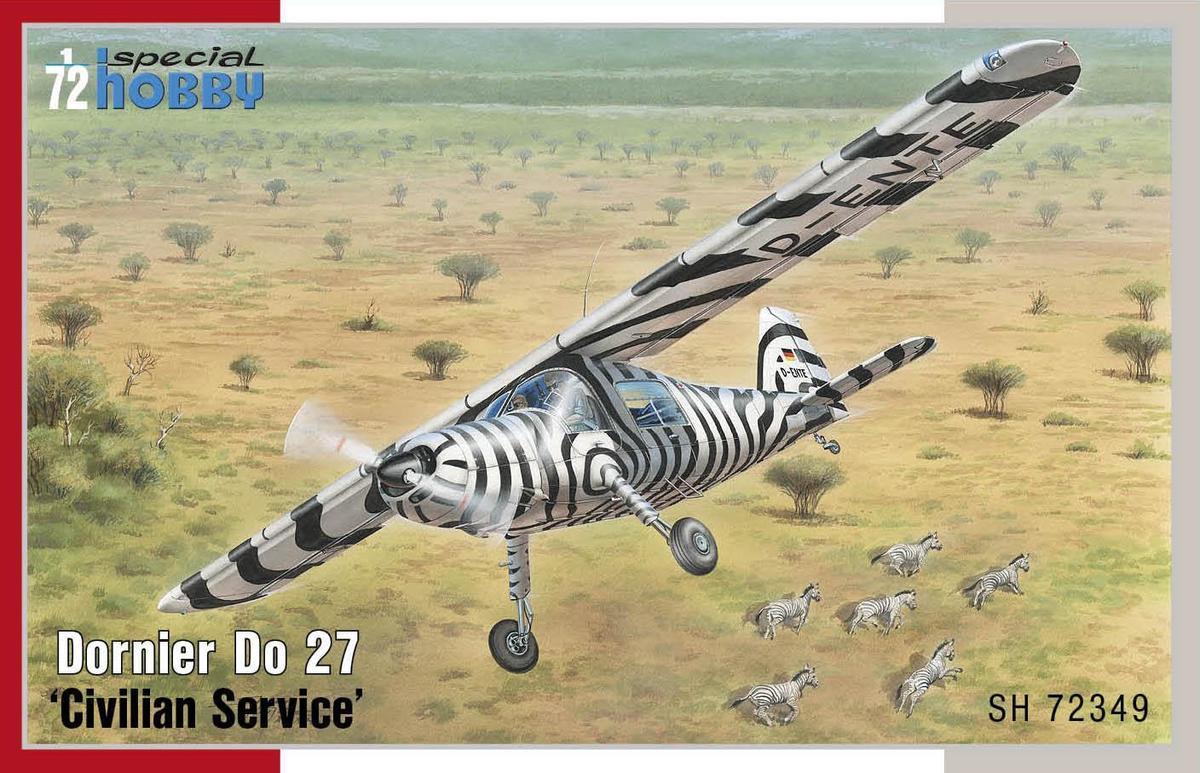 """Special Hobby Dornier Do 27 """"Civilian Service"""" 1/72"""
