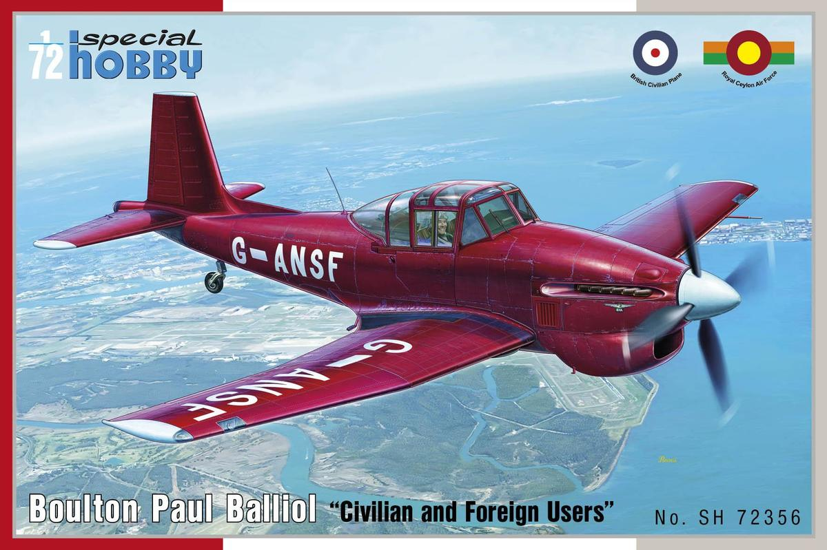 Special Hobby 1/72 Boulton Paul Balliol Civilian and Foreign Users
