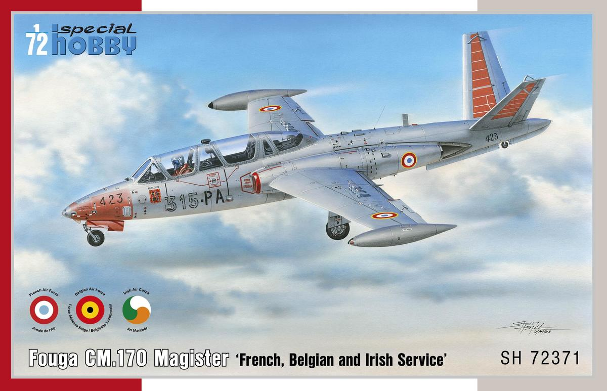 Special Hobby 1/72 Fouga CM.170 Magister French, Belgian and Irish Service
