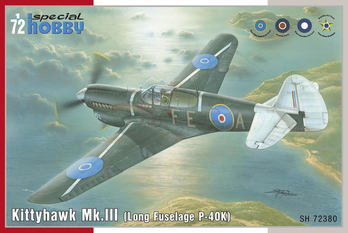 """Special Hobby Kittyhawk Mk.lll """"P-40 K Long Fuselage"""" 1/72"""