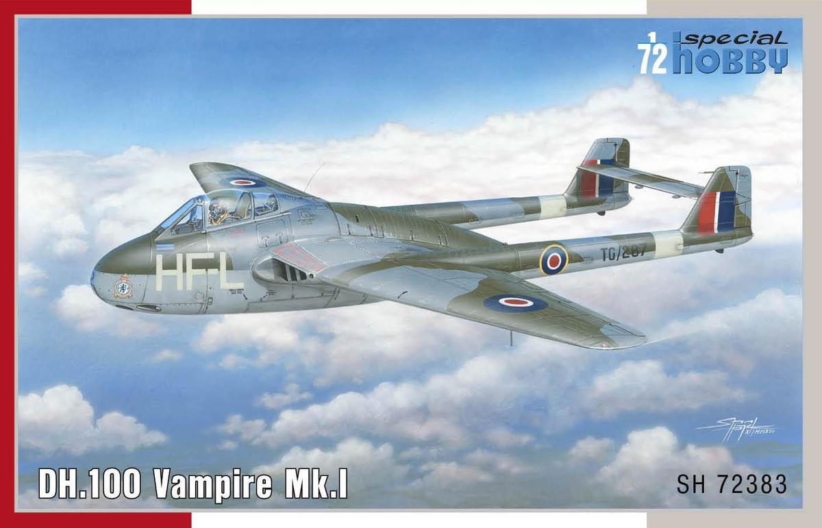 Special Hobby DH.100 Vampire Mk.l 'RAF, RAAF and Armee de I'Air' 1/72