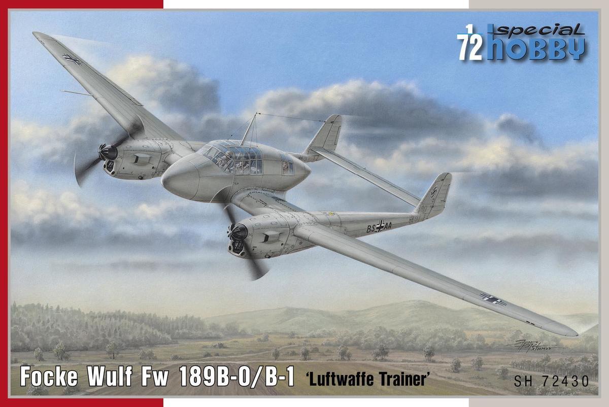 Special Hobby 1/72 Focke Wulf Fw 189B-0/B-1 Luftwaffe Trainer