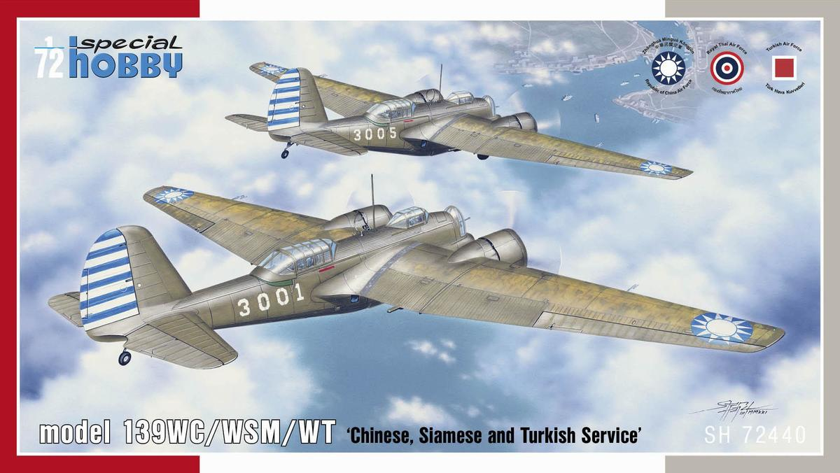 """Special Hobby 1/72 Model 139WC/WSM/WT """"Chinese, Siamese and Turkish  Service"""""""