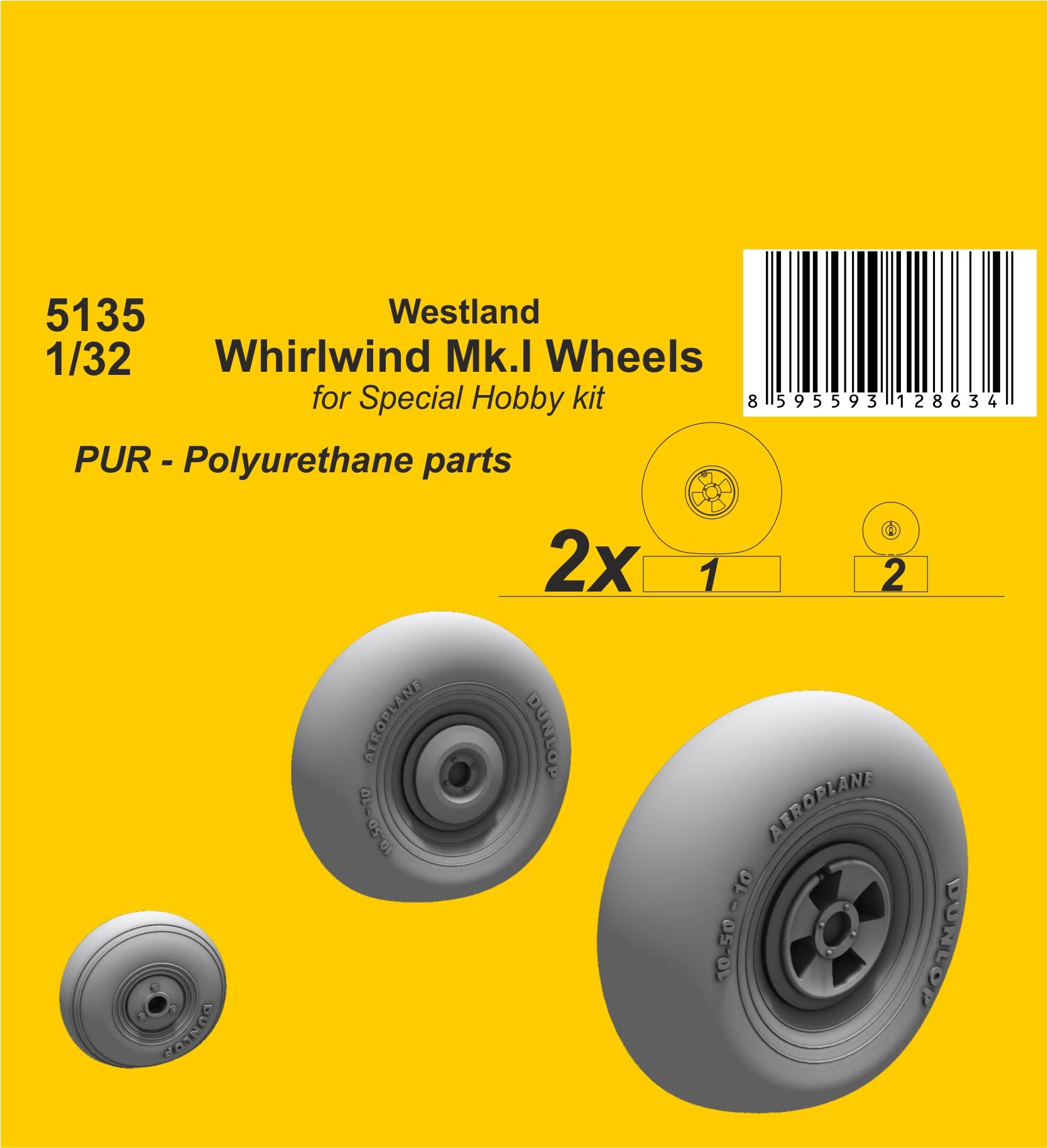 Special Hobby 1/72 Westland Whirlwind Mk.I Wheels