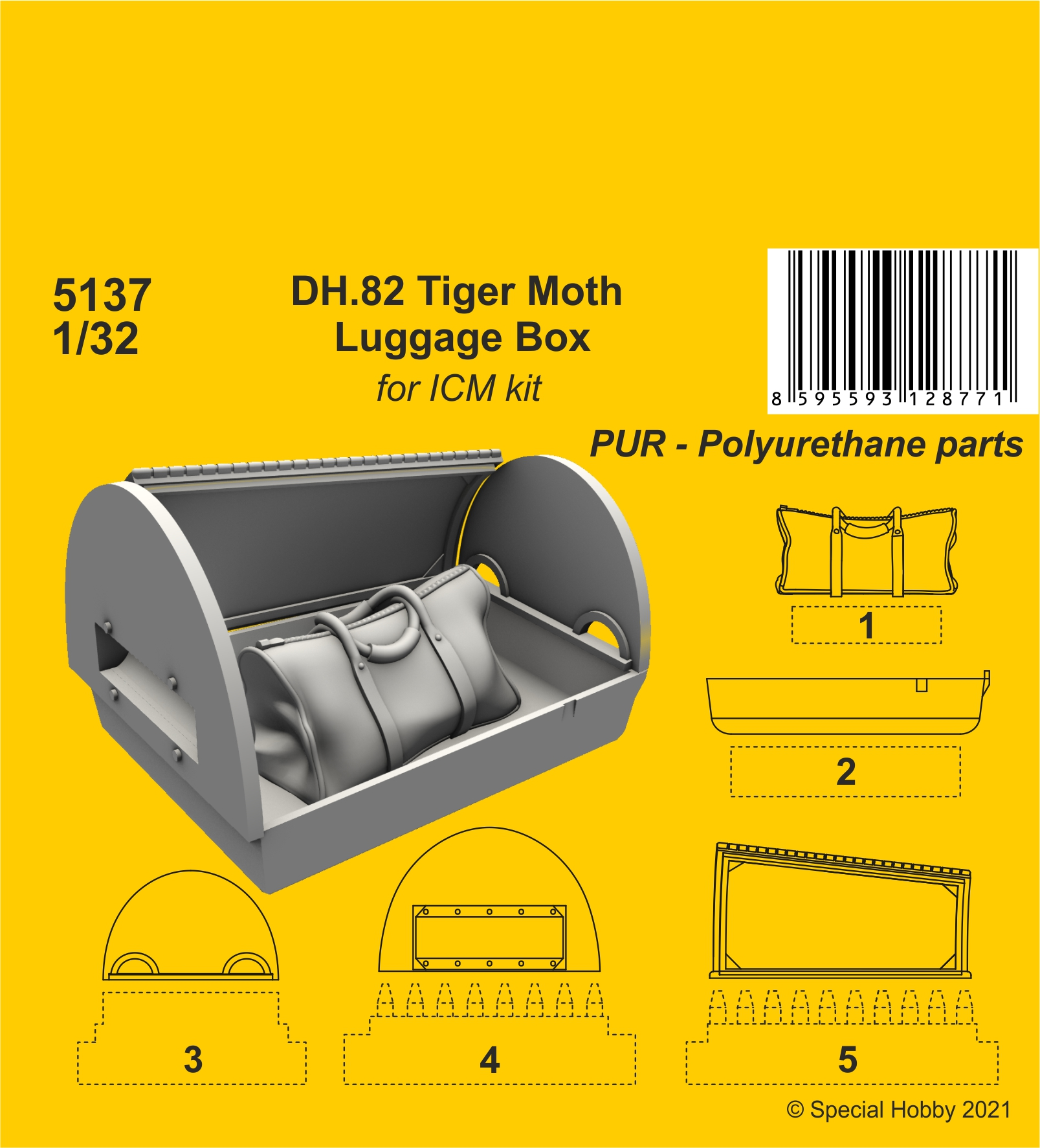 CMK 1/32 DH.82 Tiger Moth Luggage Box (ICM kit)