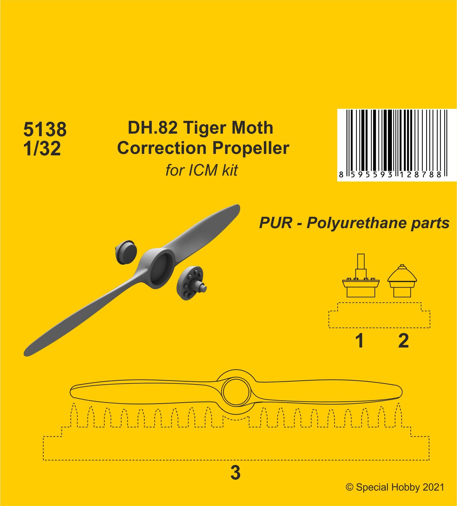 CMK 1/32 DH.82 Tiger Moth Correction Propeller(ICM kit)