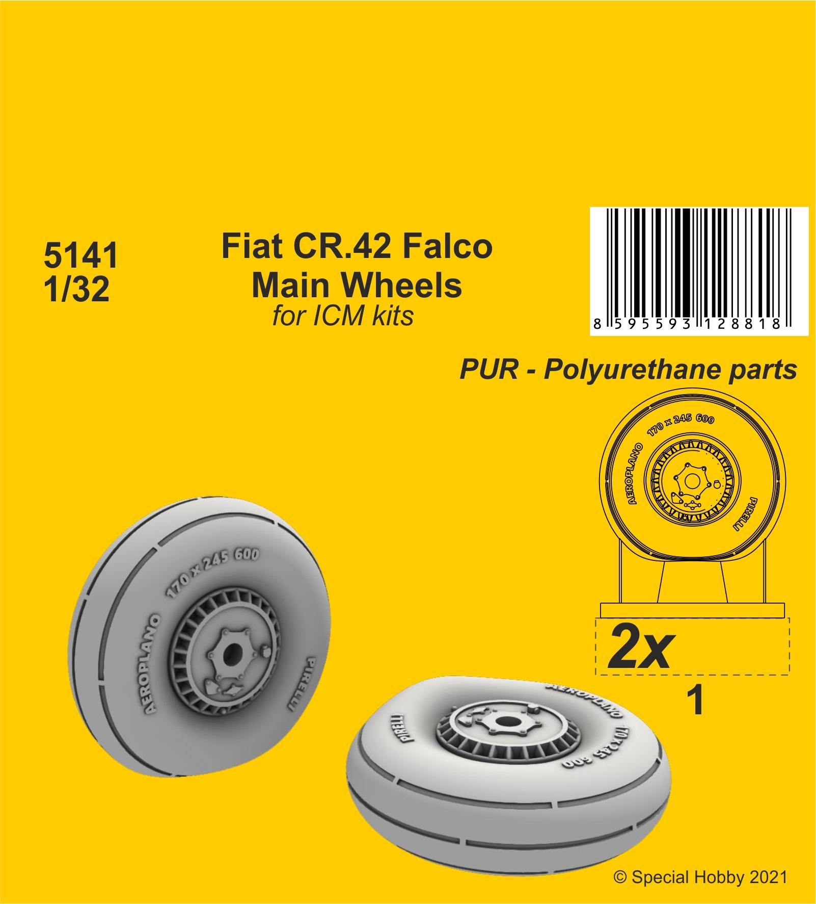 CMK 1/32 Fiat CR.42 Main Wheels (ICM kit)