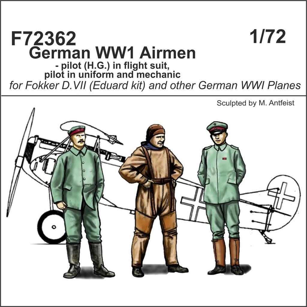 Special Hobby CMK German WW1 Airmen - pilot (H.G.) in flight suit, pilot in uniform and mechanic