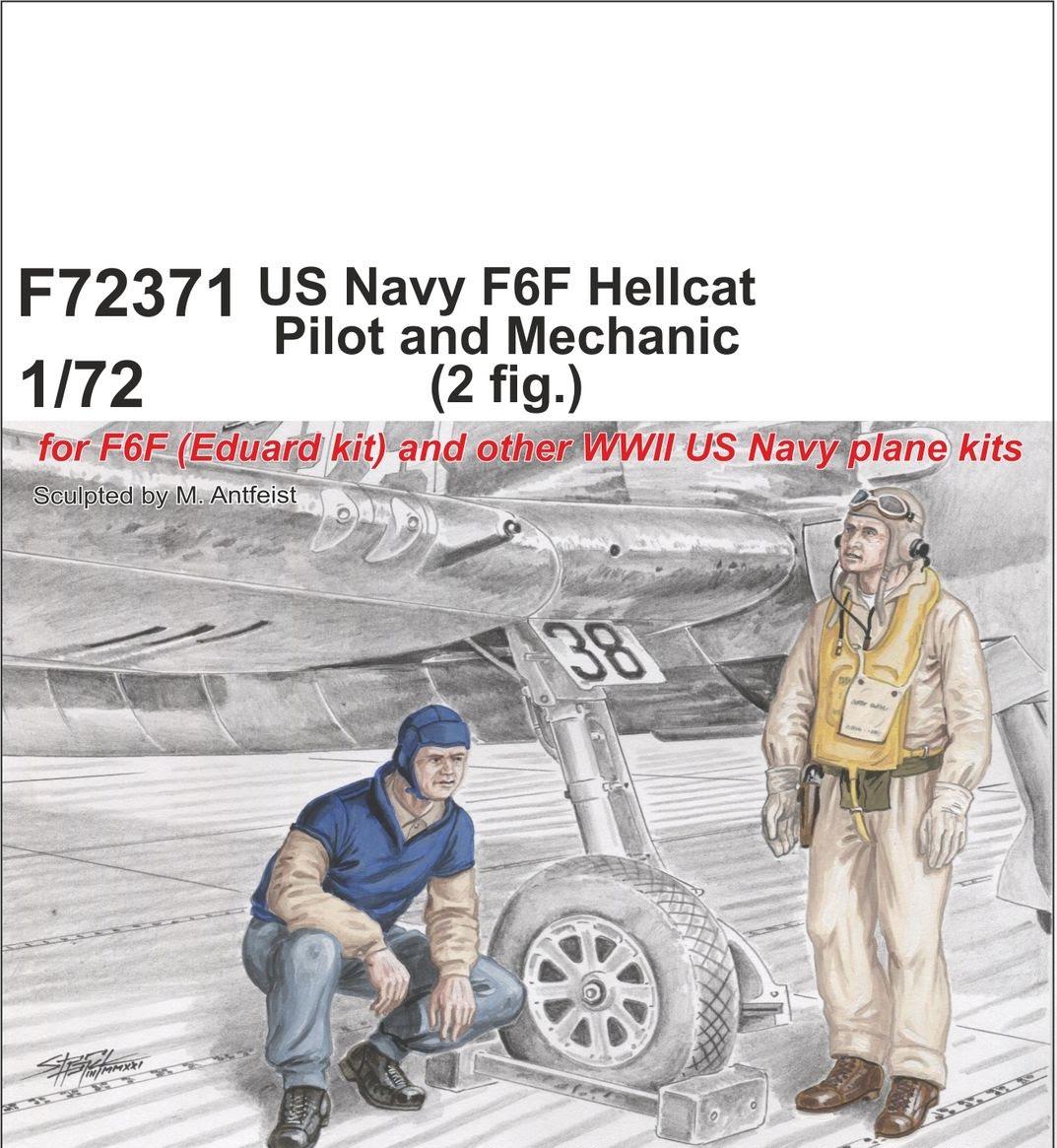 Special Hobby 1/72 US Navy F6F Hellcat Pilot and Mechanic