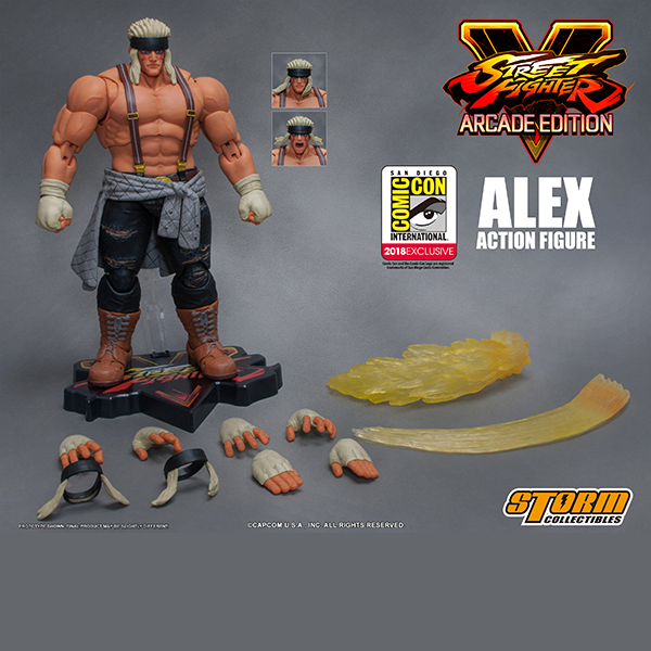 "Storm Collectibles Alex (Special Edition) *SDCC 2018* ""Street Fighter V"", Storm Collectibles 1/12 Action Figure"