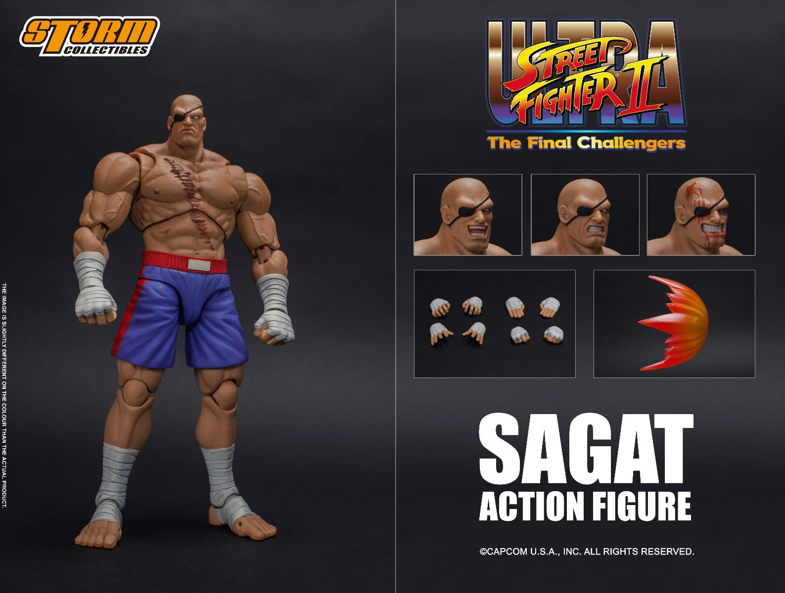 "Storm Collectibles 1/12 Sagat ""Street Fighter"" Action Figure"