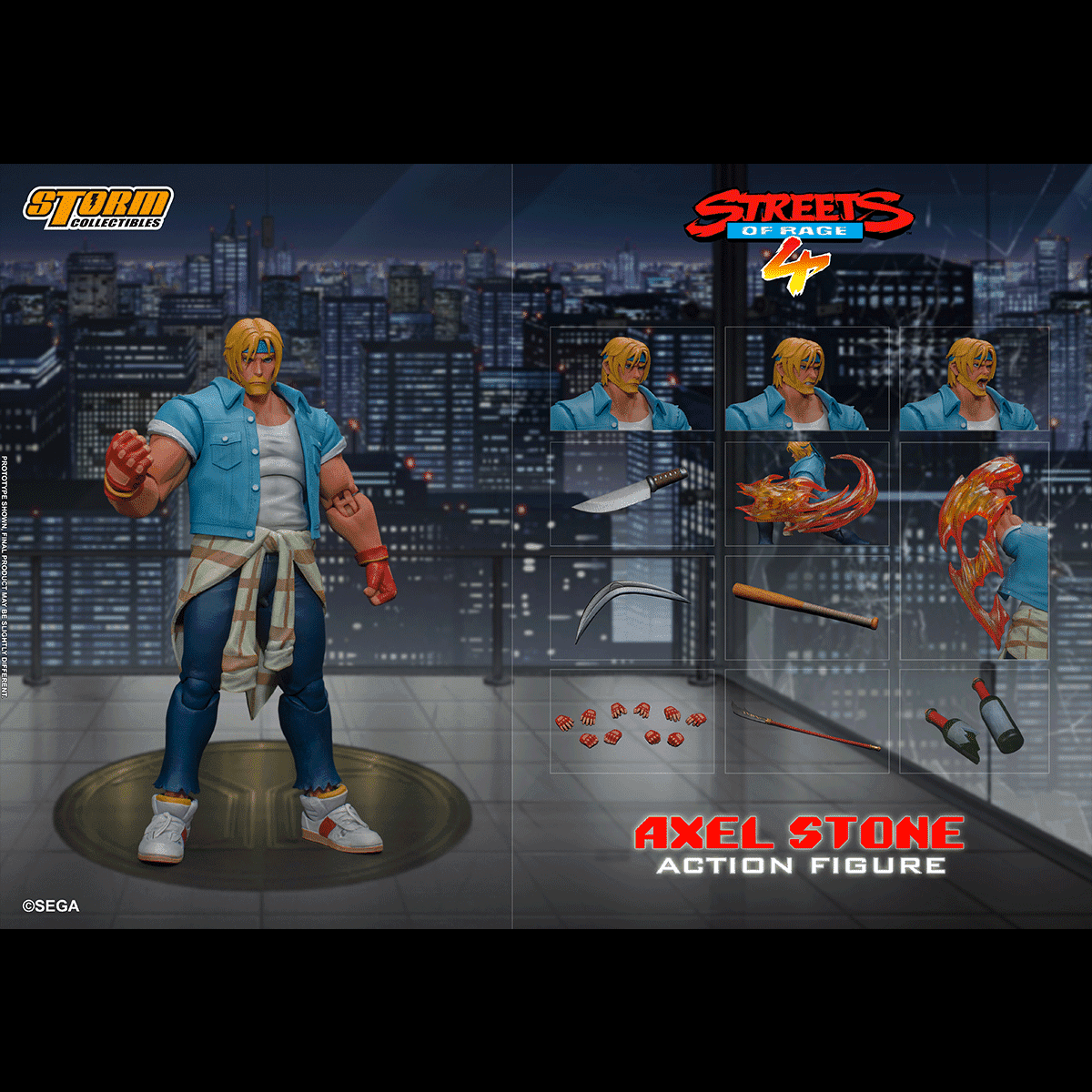 "Storm Collectibles 1/12 Axel Stone ""Streets of Rage 4"" Action Figure"