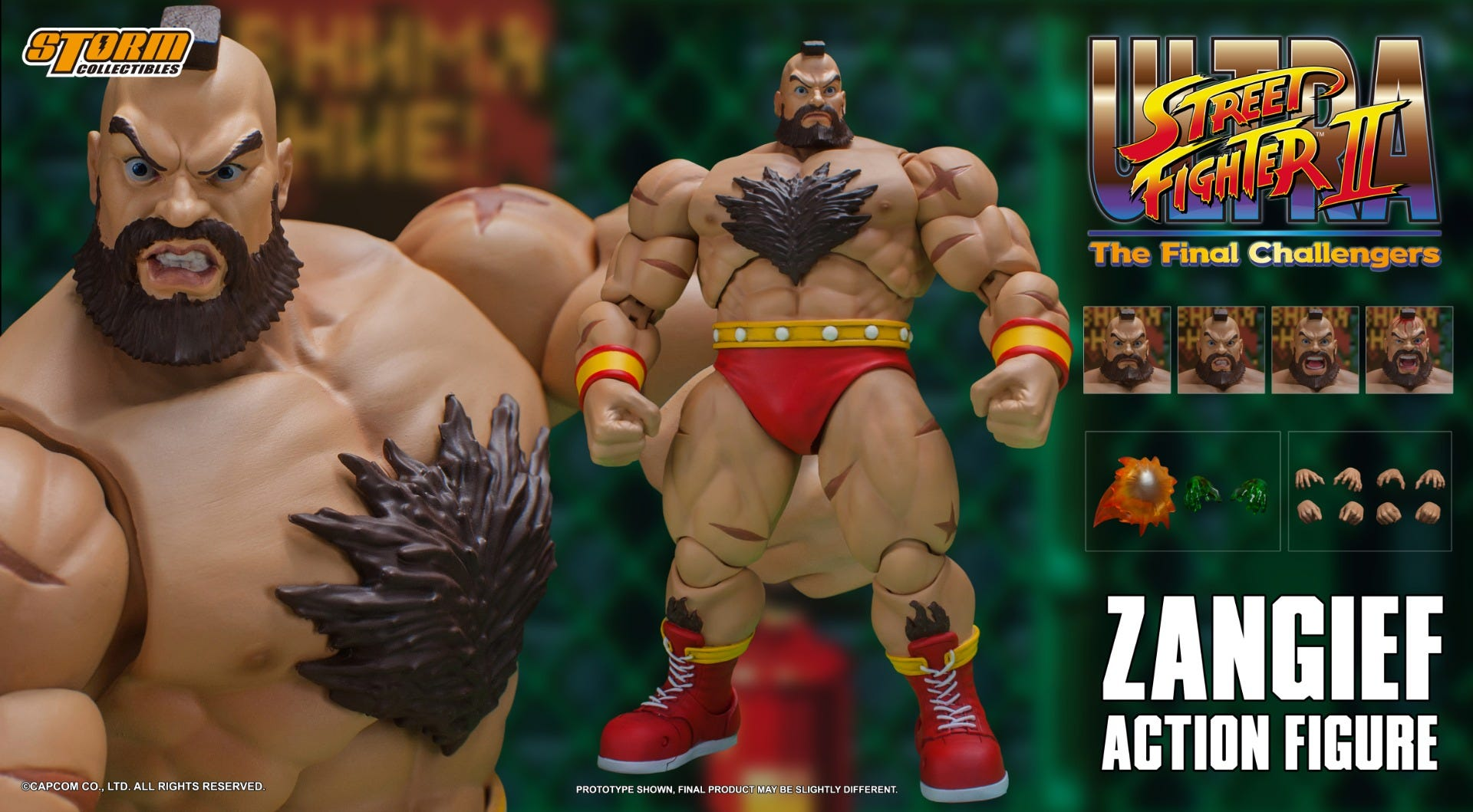 """Storm Collectibles Zangief """"Ultimate Street Fighter II: The Final Challenger"""" Action Figure"""