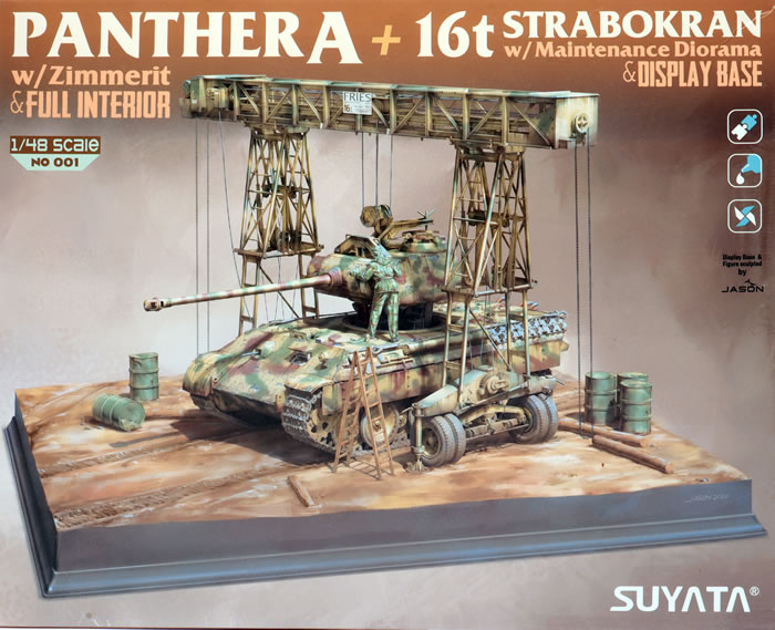 Suyata 1/48 Panther A W/ Zimmerit & Full Interior+16T Strabokran W/ Maintenance Diorama & Display Base