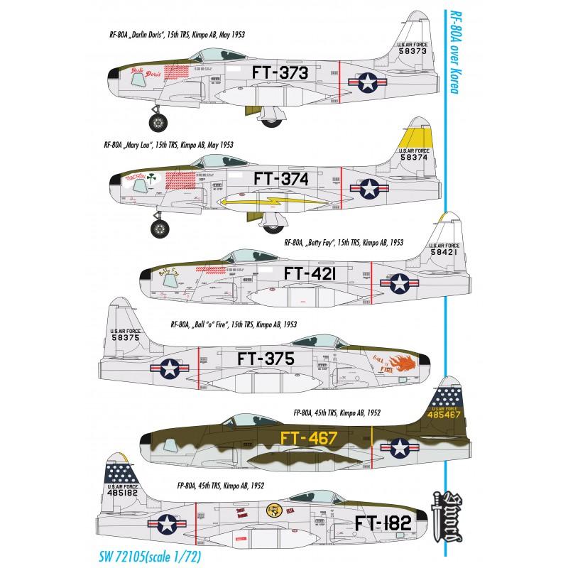 Sword Models 1/72 RF-80A over Korea, Aircraft