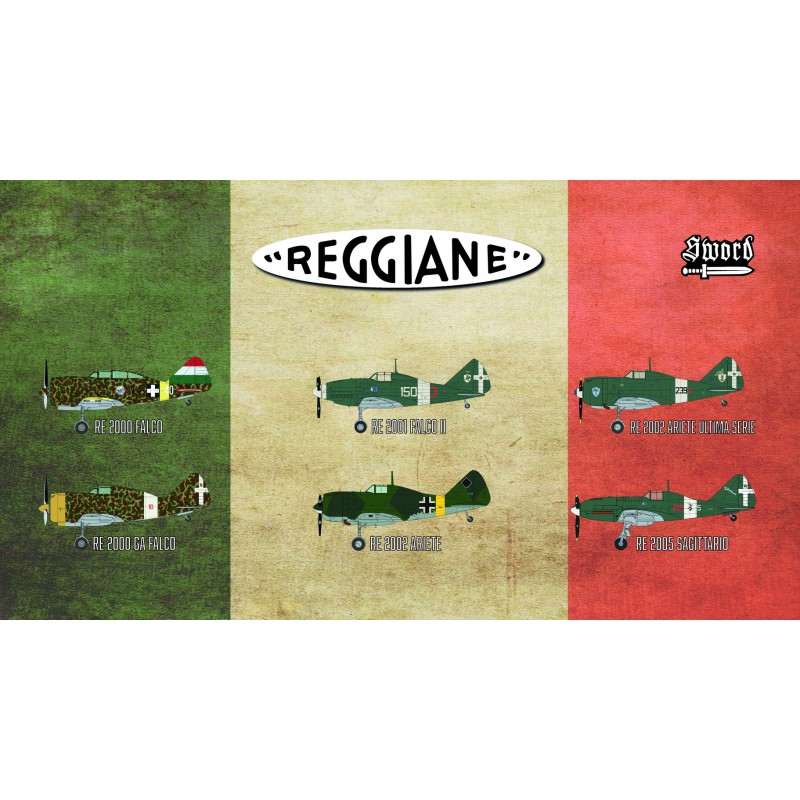 Sword Models 1/72 Reggiane fighters, Aircraft
