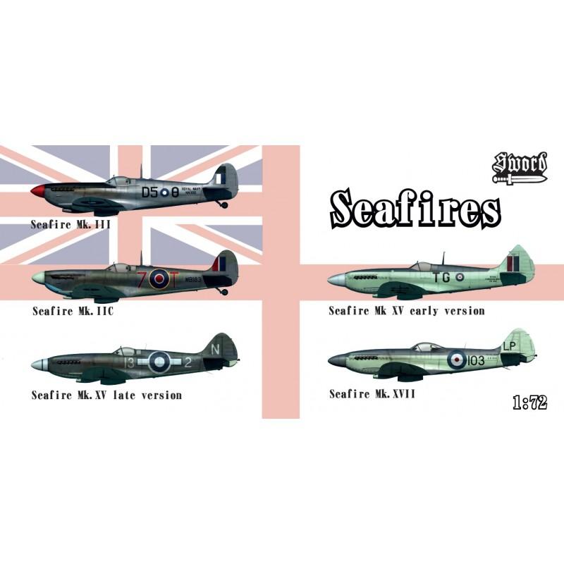 Sword Models 1/72 Seafires II.c, III, XV early, XV late, XVII, Aircraft