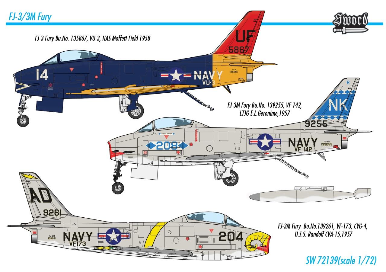 Sword Models 1/72 FJ-3/3M Fury, Aircraft