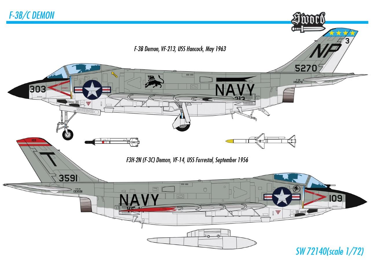 Sword Models 1/72 F-3B/C Demon, Aircraft