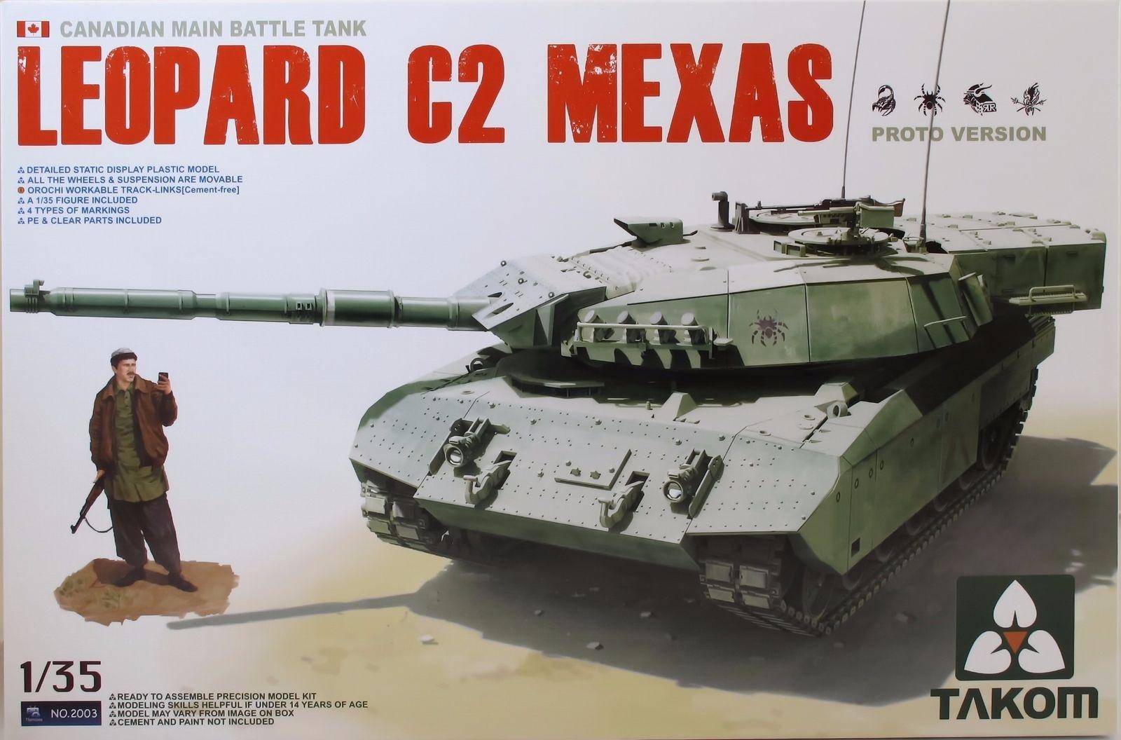 Takom 1/35 Canadian MBT Leopard C2 MEXAS (Proto Version) Tank