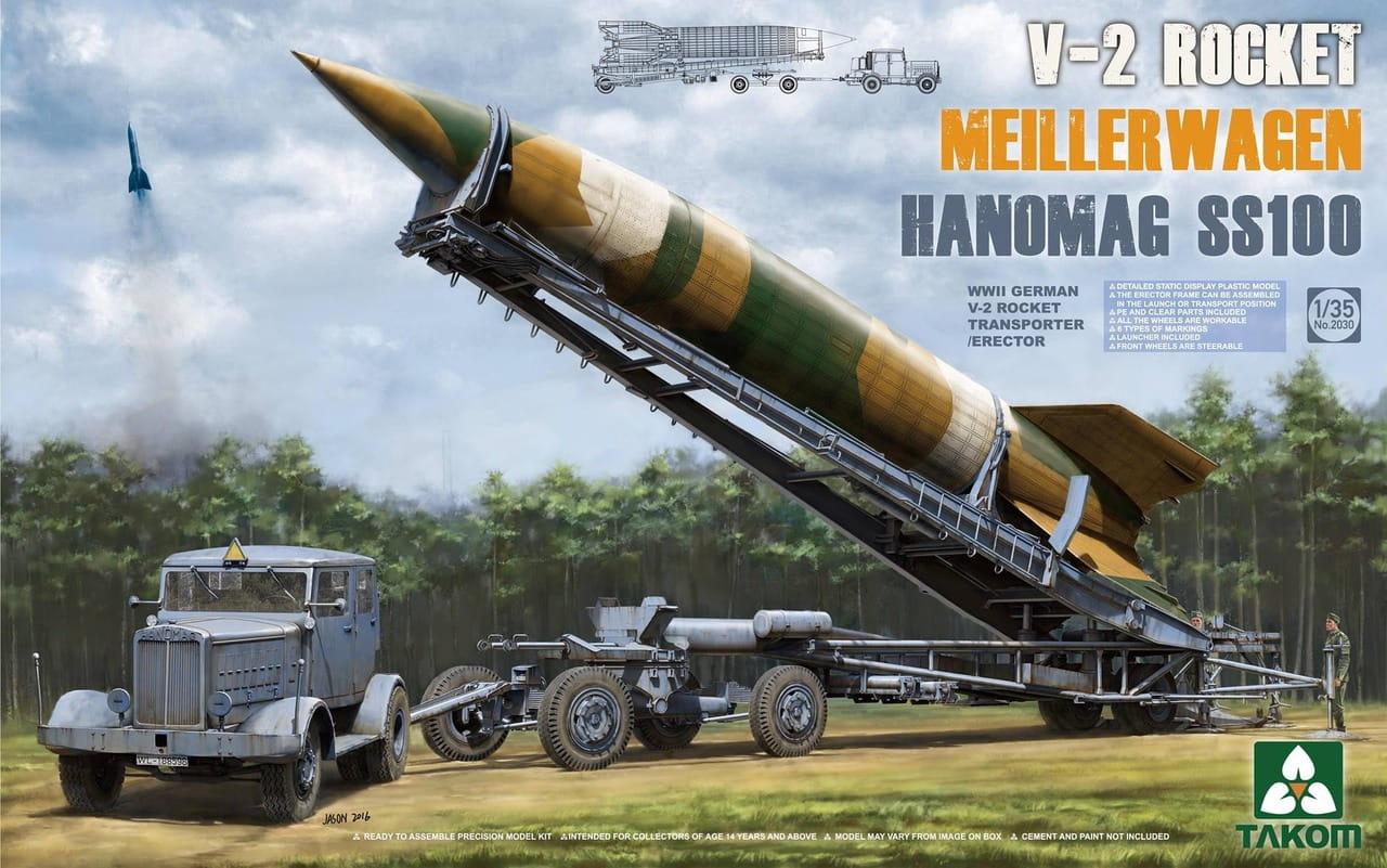 Takom 1/35 WWII German V-2 Rocket Transporter/Erector Meillerwagen+Hanomag SS100