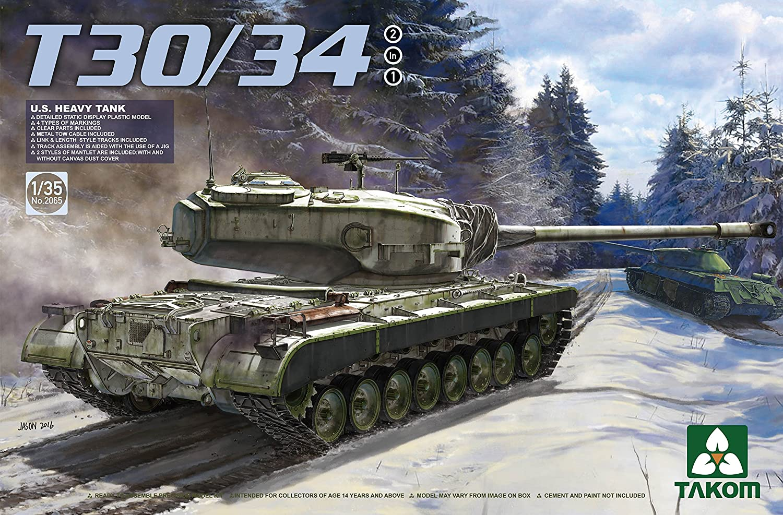 Takom 1/35 U.S. Heavy Tank T30/34 2in1