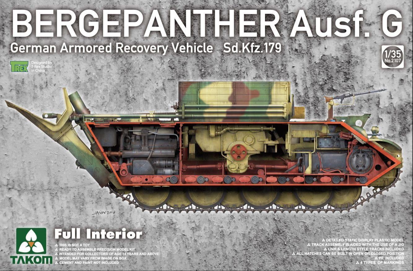Takom 1/35 Bergepanther Ausf.G German Armored Recovery Vehicle Sd.Kfz.179 w/ full interior kit