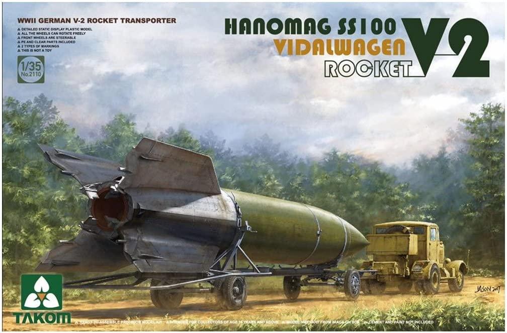 Takom 1/35 V-2 Rocket Vidalwagen Hanomag SS100
