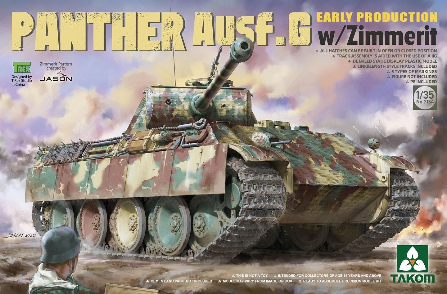 Takom 1/35 Panther Ausf.G Early Production w/Zimmerit Tank