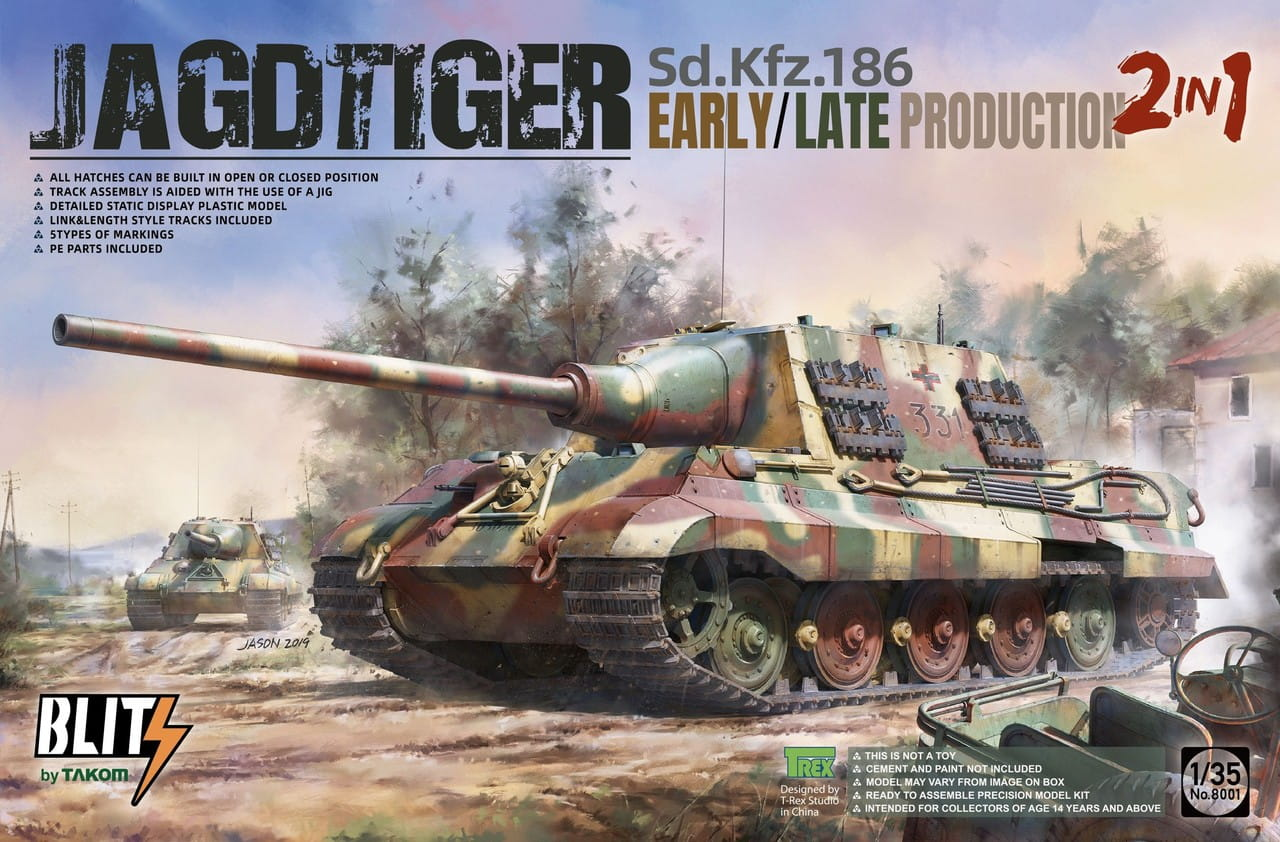 Takom 1/35 Sd.Kfz.186 Jagdtiger early/late production 2in1 Tank