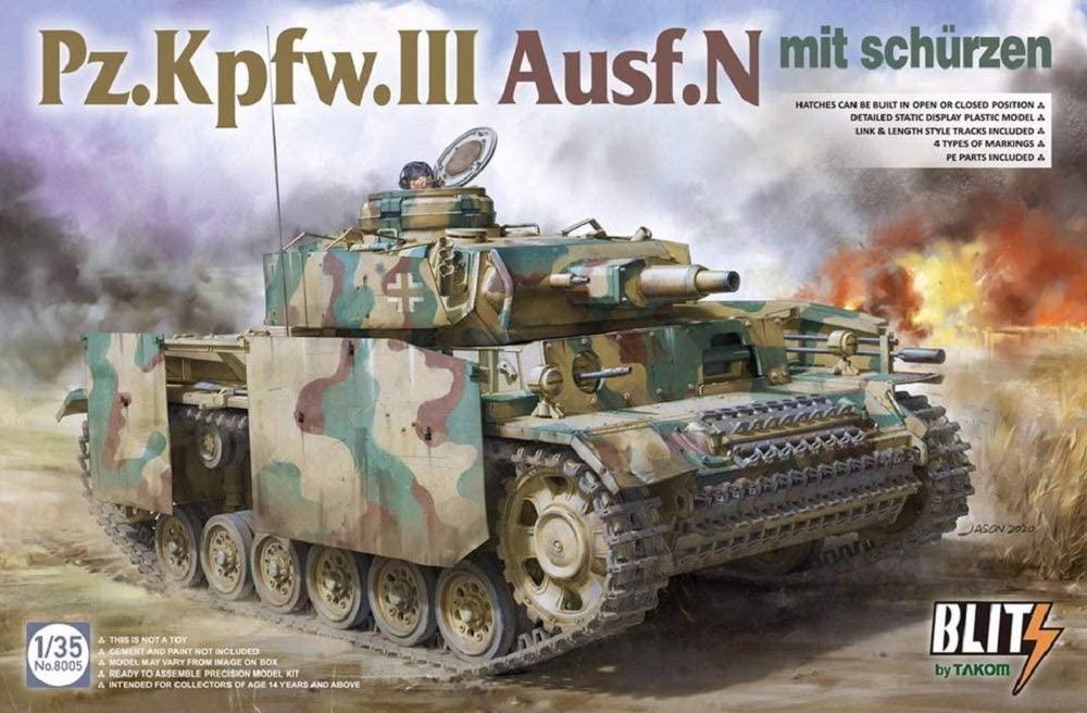 Takom 1/35 Pz.Kpfw.III Ausf.N mit Schurzen Tank