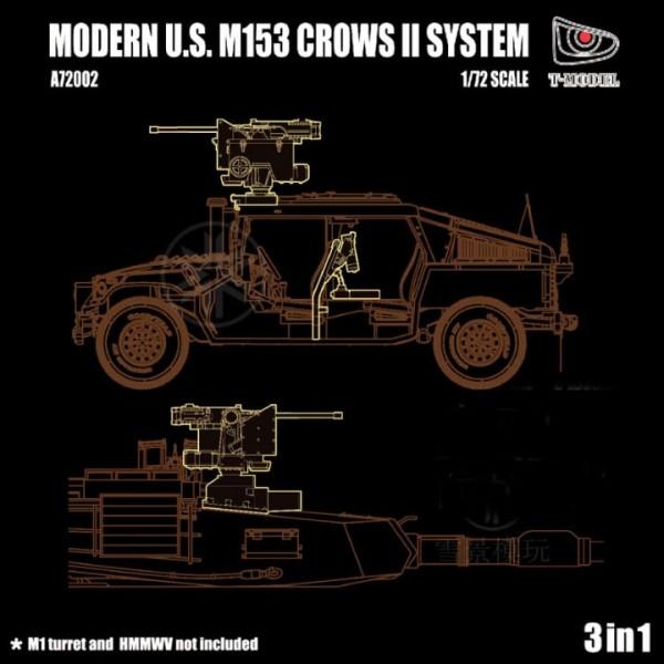 T-Model (Tiger Models) 1/72 3 sets in 1 Modern US M153 CROWS II System