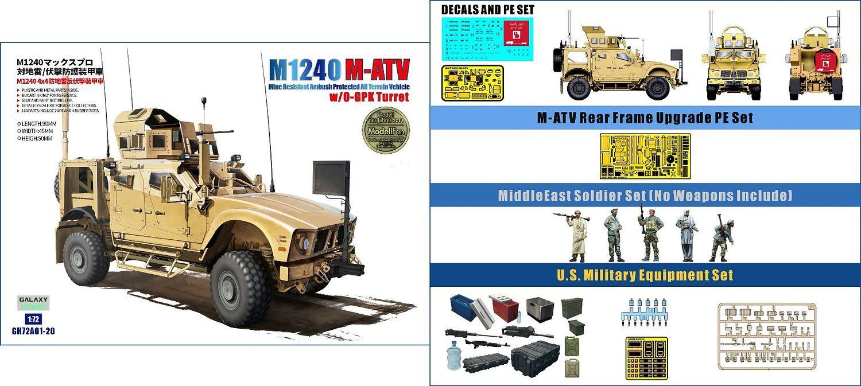 Galaxy Hobby 1/72 M1240 (M-ATV) MRAP with O-GPK Turret Special Set