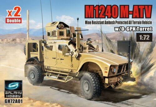 Galaxy Hobby 1/72 M1240 M-ATV MRAP All Terrain Vehicle w/ O-GPK Turret